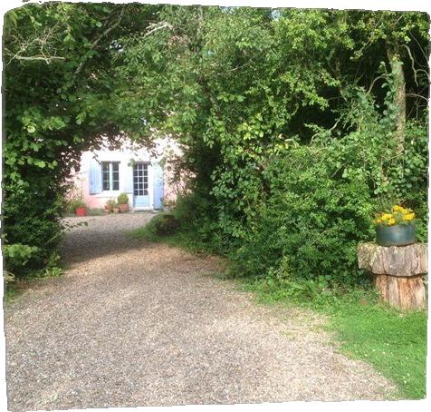De tuin van het huis in Tranzault
